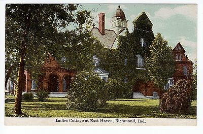 1911 Richmond, IN Postcard - Ladies Cottage at East Haven - Posted