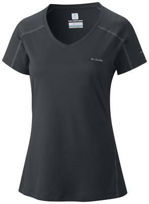 Columbia Women's Zero Rules Short Sleeve Shirt - XS, BLK