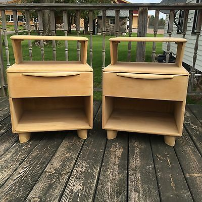 Vintage Heywood Wakefield Encore Nightstands Night Stand Tables