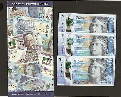 2016 Scotland £5 Pounds The Royal Bank Of Scotland ~ 27 /10 New Released