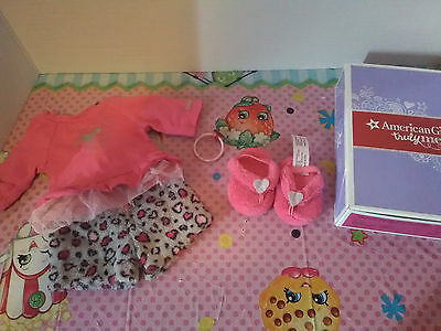 American girl 2 complete in box sets leopard pjs , sundress