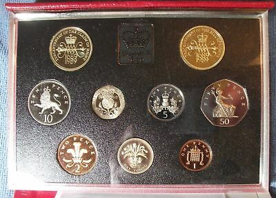1989 Great Britain Proof Set 9 Coin Set