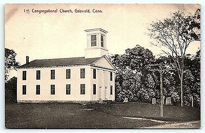 Postcard CT Griswold 1st Congregational Church Pre 1920's View R14