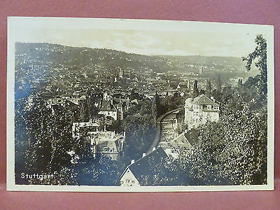 Old Postcard Germany Stuttgart RPPC Real Photo 1930