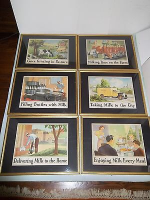 Set of 6 National Dairy Council Prints Signed Lee  Copyright 1939 - Advertising