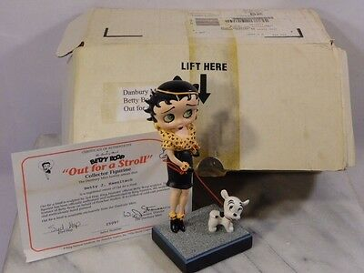 "Danbury Mint BETTY BOOP ""OUT FOR A STROLL"" with Certificate"