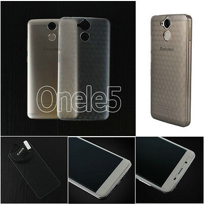 """Hard PC Case Cover For Blackview P2 /P2 Lite 5.5"""" Phone Protector Tempered Glass"""