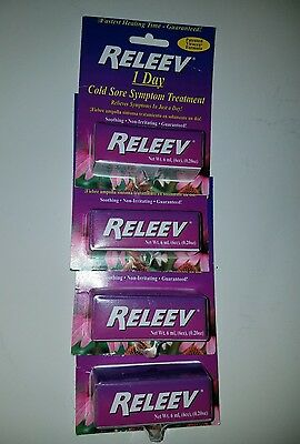 RELEEV 1 Day Cold Sore Treatment 6 mL (Pack of 4)