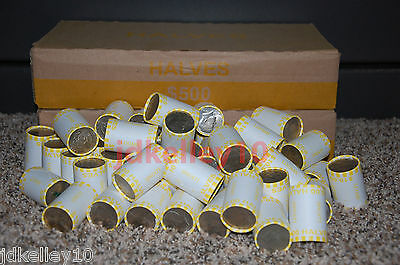 (5) Unsearched Bank Sealed Half Dollar Rolls Possible 40% 90% Kennedy Franklin