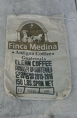 One Finca Medina Antigua Coffee Burlap Sack Bag From Guatemala Horse And Buggy