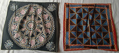 Beautiful Handmade Old Vintage Embroidery Cushions/pillow Cover India Fine Art23