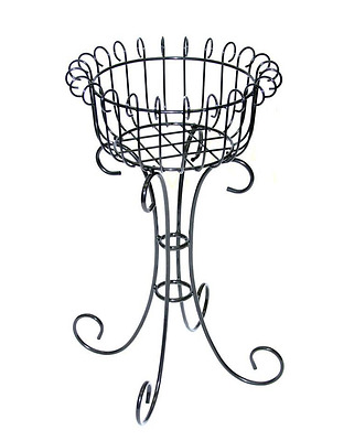 30 in. French Plant Stand Outdoor Flower Pot Planter Holder Rack Garden Decor