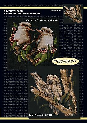 Australian Birds-2 - 'Combo' Cross Stitch Chart from Country Threads. 2 Designs