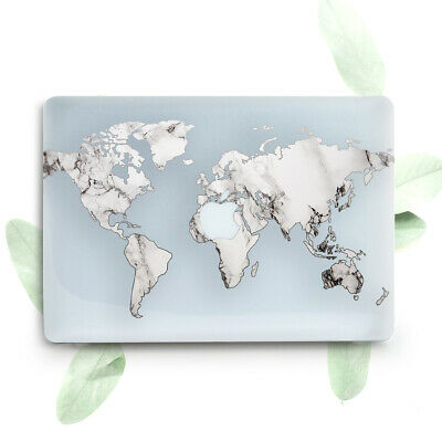 World Map Marble Art Hard Plastic Case Cover Macbook Pro Retina Air 11 12 13 15