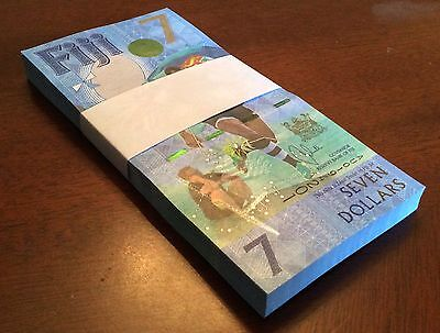 2017 Fiji $7 Seven Dollars x100 Pieces Commemorative Banknote UNC - NEW Release!