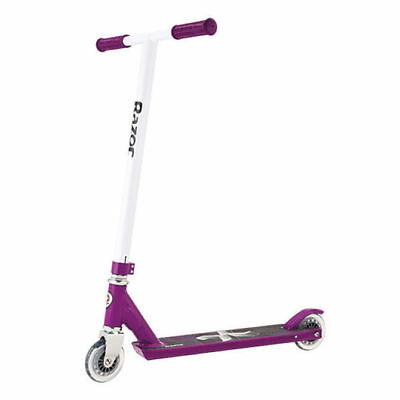 Razor Pro X Sport Scooter Purple W/ White T-Bar Kids/Adults Ride On Toy