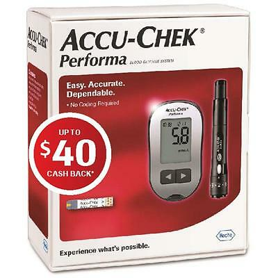 Accu Check Performa Blood Glucose Meter Kit New *free After $40 Cashback!* *mvc*