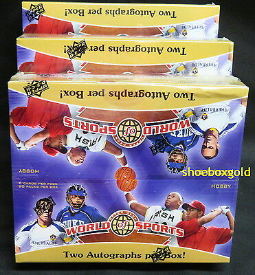 2010 World of Sports Factory Sealed BOX Chase Autographs, Worn Memorabilia Cards