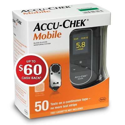Accu Check Mobile Blood Glucose Meter System *free After $60 Cashback!* *mvc*