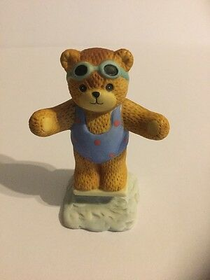 Lucy Rigg Swimming Racing Diving Enesco Lucy & Me Bear Figurine Swimmer 1986