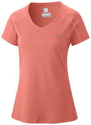 Columbia Women's Zero Rules Short Sleeve Shirt - M, CORAL FLAME