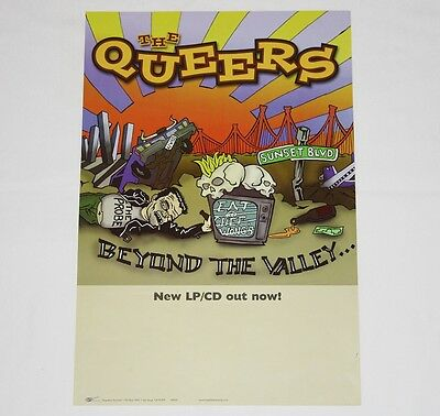 The QUEERS Beyond the Valley Poster 18''x12'' - RARE