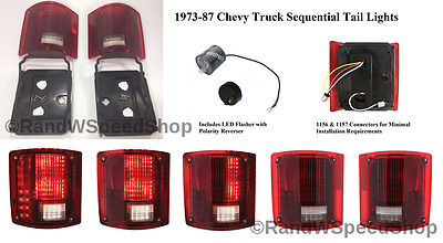 Pair (2) Sequential 1973-1987 Chevrolet Pickup Truck LED Brake Tail Lights