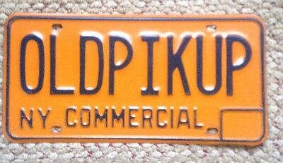 70S-80s NEW YORK  COMMERCIAL VANITY PERSONALIZED LICENSE PLATE OLD PICK UP TRUCK