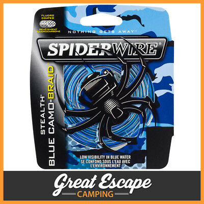 Spiderwire Stealth Blue Camo Braid 50LB 300M Spool Braided Fishing Line