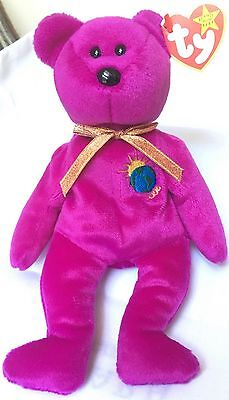 "TY Beanie Baby ""Millenium"" Bear (misspelled) Rare with Errors!"