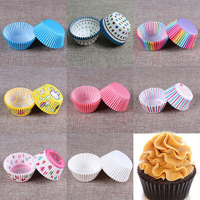 100Pcs/Set Paper Cupcake Cases Cupcake Liners Holder Bun/Muffin/Baking
