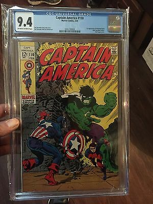 Captain America #110 1969, CGC 9.4 1st Madam Hydra Great cover!