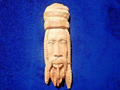 """Hand Carved Statue Figure Wood Wall Hanging Decoration asian Fu Manchu 13"""" inch"""