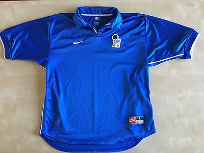 Vintage 1998 Italy Home Nike World Cup Jersey Size Large Soccer Football Maglia