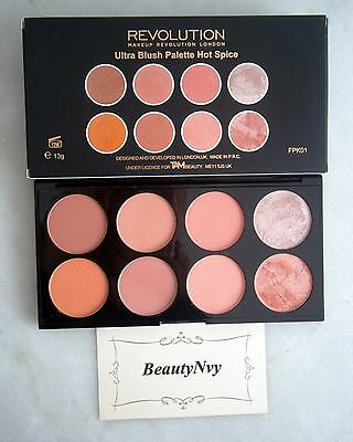 Makeup Revolution Ultra Blush Palette Hot Spice IN STOCK 100% AUTHENTIC