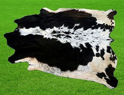 """New Cowhide Rugs Area Cow Skin Leather 15.94 sq.feet (51""""x45"""") Cow hide MB-1048"""
