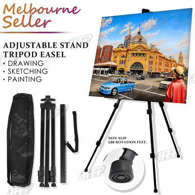 Adjustable Stand Tripod Easel Art Display Sketch Artist Painting Exhibition
