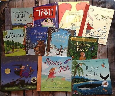 11 Used Julia Donaldson Childrens Picture Story Book, Free Postage