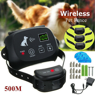 Drahtlose Haustier Hunde Zaun System Electric Pet 3 Dog Fence Rechargeable