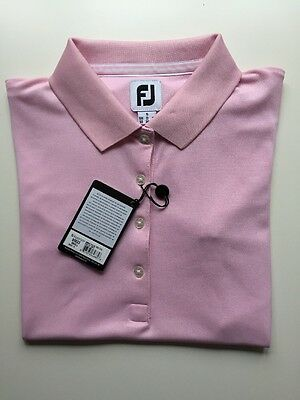 Footjoy Ladies STRETCH Pique Polo Pink Clearance 95823 UK SMALL (10)