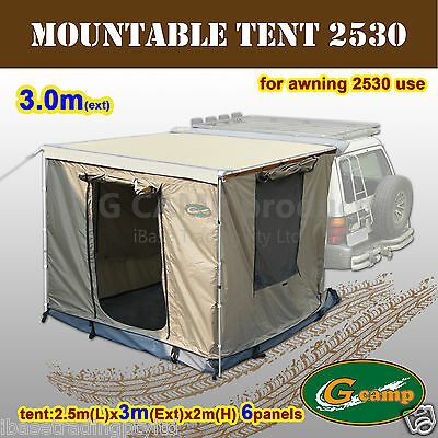 G Camp Mountable Tent 2.5Mx3M Awning Roof Top Camper Trailer 4Wd 4X4 Camping New