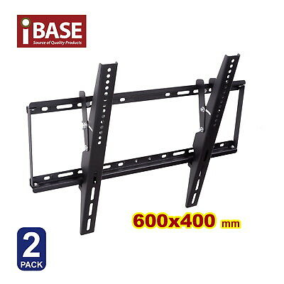 "2x LCD LED PLASMA FLAT TV WALL MOUNT BRACKET 32 - 75 "" inch Pack stud Free"
