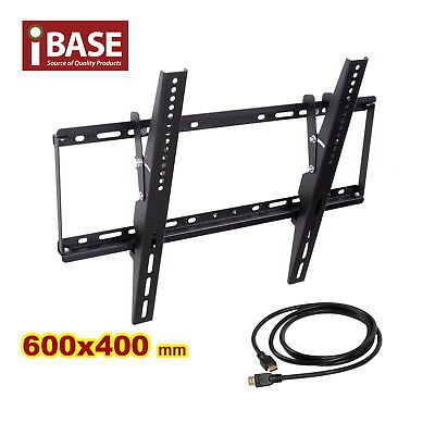 "HDMI LCD LED PLASMA TILT TV WALL MOUNT BRACKET 32 - 75 "" inch Free"