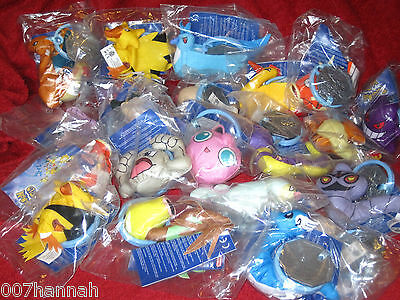 1 Pokemon Stofftier zur Auswahl (to choose)Burger King/Figure,Plush,soft-toy,Neu