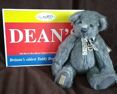 "Beautiful Dean's Mohair Teddy Bear - Grey Stoke - 13"" - 21/250 New With Tags"