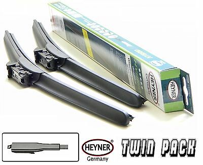"Jaguar XF 2008-ON set of 2 front windscreen wiper blades 24""19"" HYBRID HEYNER"
