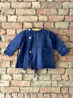Vintage 1930s Natural Indigo Boys Girls coat