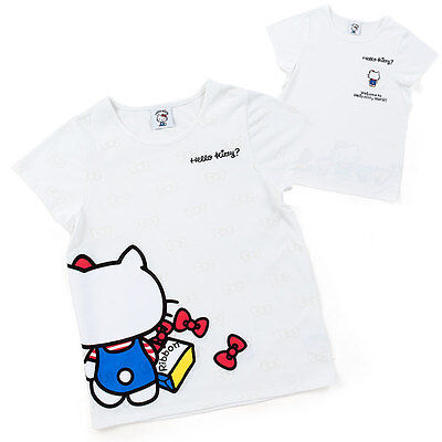 Hello kitty Adult T-shirt Red/Blue worldwide F/S SANRIO from JAPAN