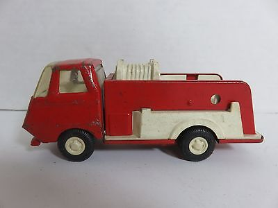 "1960s TONKA RED Fire Fighter Pumper Engine Toy Truck 5.75"" Pressed Steel"