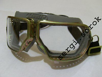 USSR AVIATOR BIKER POST PUNK Motorcycle Rare Protective Glasses Google Metal new